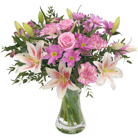 Jardins bleus bouquet du fleuriste rose for Fleuriste rose